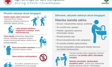 Agri SA's tips for safe workplaces during COVID-19 (isiXhos a )